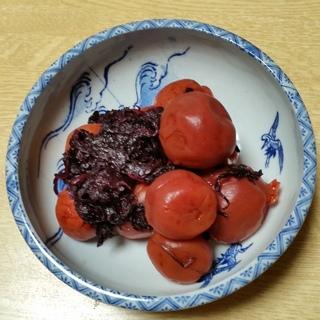 柿酢で梅漬け.jpg